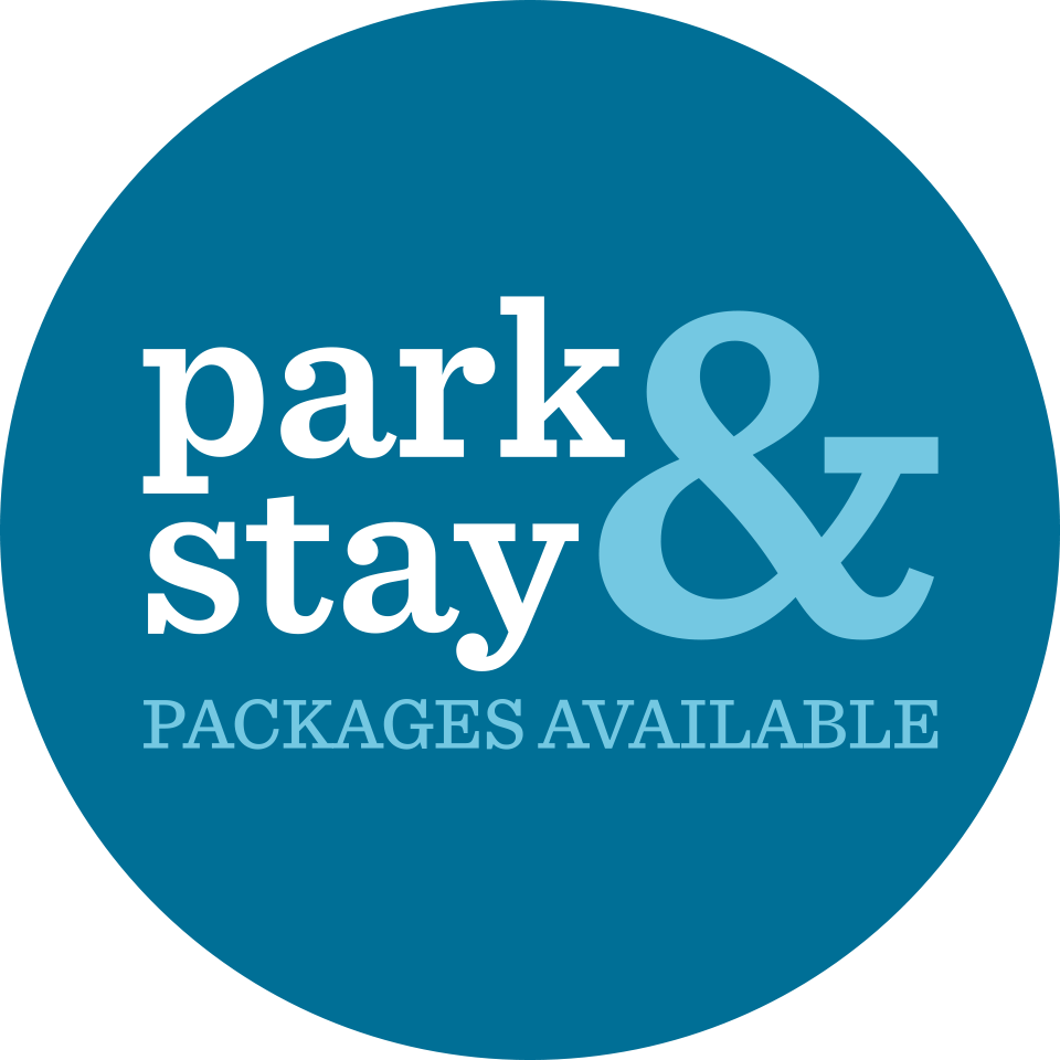 Park & Stay packages are available
